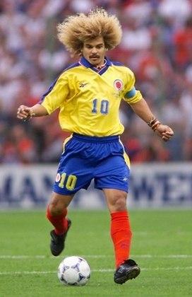 Valderrama - Um dos camisas 10 de maior qualidade no futebol sul-americano e líder da seleção colombiana em 1994, Valderrama jamais passou das oitavas de final em uma Copa do Mundo.