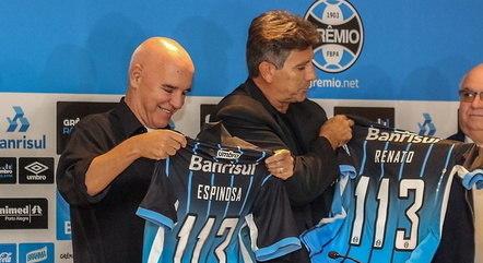 Espinosa e Renato juntos no Grêmio