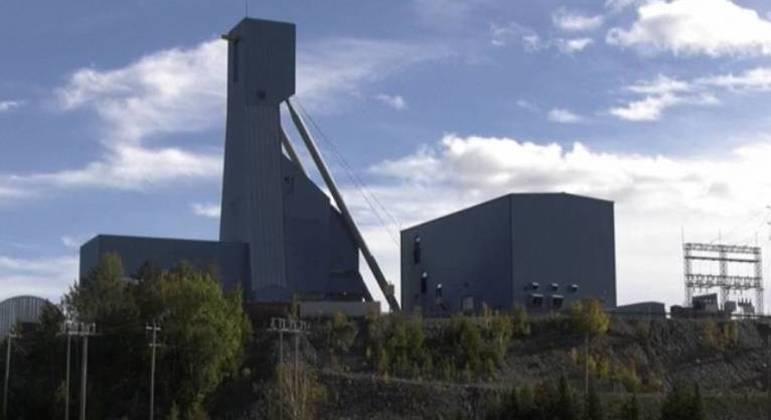 Mina de Totten, no Canadá, onde 39 operários ficaram presos depois de um acidente