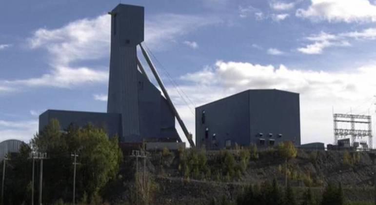 A mina Totten fica situada em Ontário, no Canadá