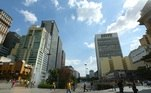 A região, caracterizada como parque, foi palco para diversas apresentações culturais e protestos ao longo da história de São Paulo. Foto de 2006.