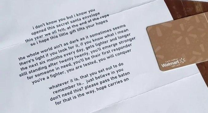 Cartão foi deixado para famílias que precisam de dinheiro