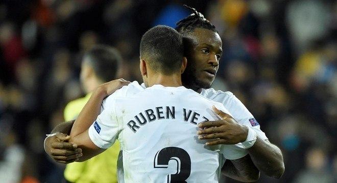 Valencia, 2 X 1 no Manchester United