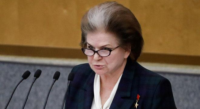 Valentina Tereshkova, parlamentar russa e ex-cosmonauta soviética, que se tornou a primeira mulher no espaço em 1963, é uma apoiadora importante de Putin