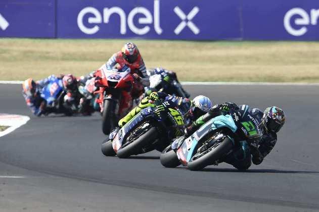 Valentino Rossi caçou Morbidelli na maior parte da prova
