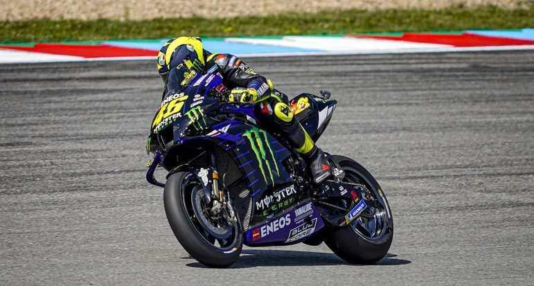 Valentino Rossi foi o décimo, 0s828 atrás do pole