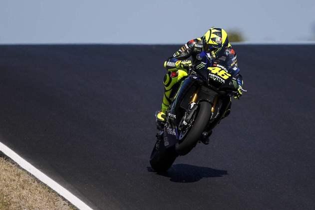 Valentino Rossi não anotou tempo durante a atividade da quarta-feira