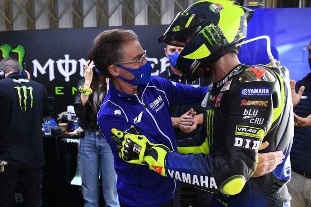 Valentino Rossi se despediu da Yamaha após 15 anos com o time