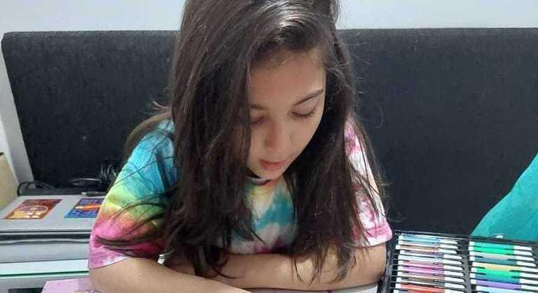 Valentyna Arthur Mariz é uma das crianças prejudicadas pela pandemia de coronavírus
