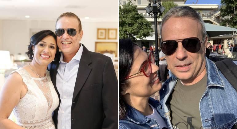 Viúva de Dudu Braga relembra foto com amado: 'Amor da minha vida'
