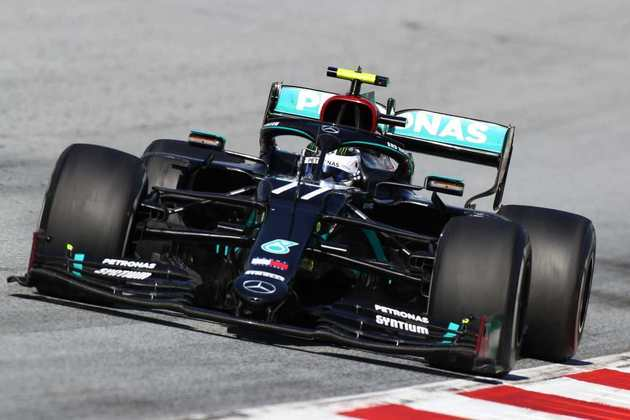 Valtteri Bottas durante o GP da Áustria da Fórmula 1, abertura da temporada 2020