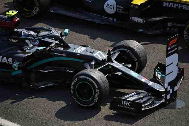Valtteri Bottas, o terceiro colocado em Silverstone no GP dos 70 Anos
