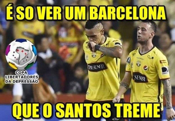 Vamos ver se é tudo isso mesmo! Independente do país de origem, o Santos tem problemas com os Barcelona. Em 2017, a