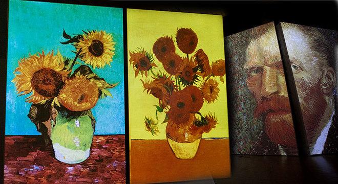 Os girassóis eram um tema frequente nas pinturas do artista