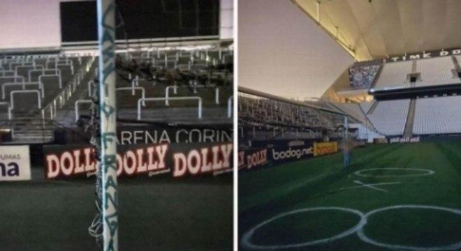 Vandalismo - Arena Corinthians