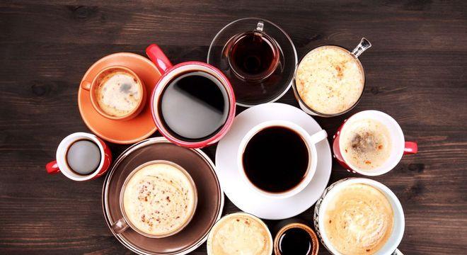vários cafézinhos diferentes