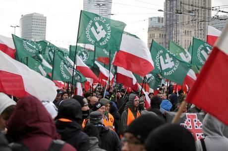 Na marcha do ano passado, houve cânticos racistas