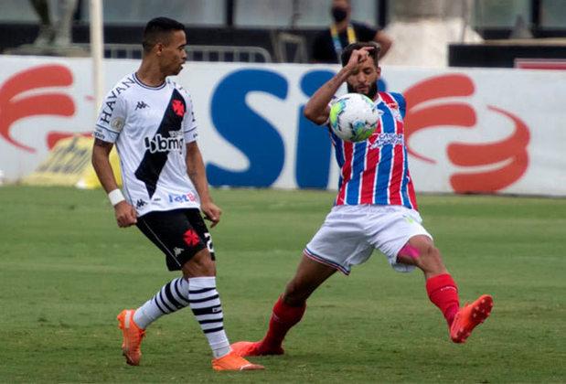 Vasco 0 x 0 Bahia - 31/1/2021 - Apesar de ter sido em São Januário, o Vasco não conseguiu se impor. Leandro Castan foi expulso aos 35'/2ºT.