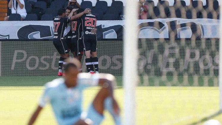Vasco 1 x 0 Santos - 20/12/2020 - O gol de Carlinhos pôs fim a quase dois meses de jejum do Cruz-Maltino.