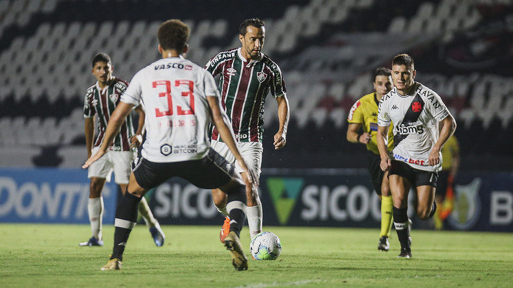 Vasco 1 x 1 Fluminense - 13/12/2020 - O Tricolor saiu na frente, ainda no primeiro tempo. Nos acréscimos do segundo, Cano empatou a partida.