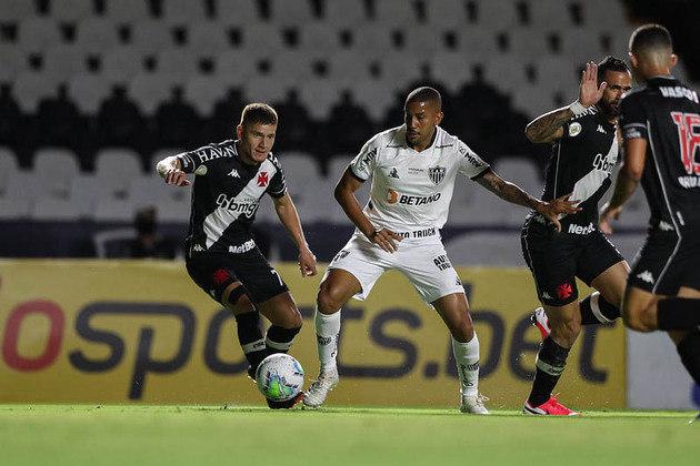 Vasco 3 x 2 Atlético-MG - 23/1/2021 - O time visitante perdeu um pênalti no início do jogo, o Vasco se aproveitou e abriu 3 a 0. A reação do Galo não foi suficiente.