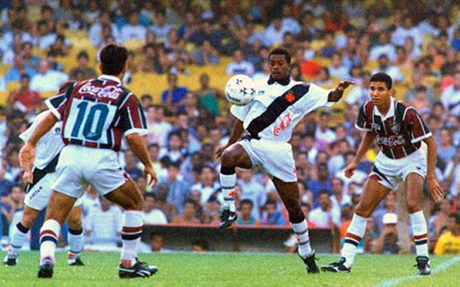 Vasco 4 x 1 Fluminense - 3/4/1994 - A final da Taça Guanabara foi a última grande atuação de Dener, que morreria 15 dias depois.