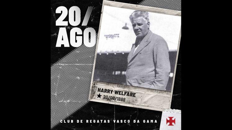"""Vasco: Henry Welfare – O britânico de Liverpool naturalizado brasileiro conhecido pela forma carinhosa """"Harry Welfare"""" fez história pelo Vasco ao comandar a equipe de 1927 a 1937 e em 1940."""
