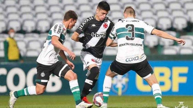 Vasco x Coritiba (16/10 - às 16h30, em São Januário) - No Couto Pereira, as equipes ficaram no empate por 1 a 1.