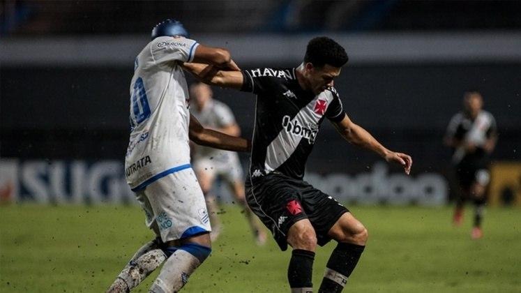 Vasco x CSA (29/10 - às 21h30, em São Januário) - No Rei Pelé, o Cruz-Maltino empatou por 2 a 2 sob o comando do interino Alexandre Gomes.