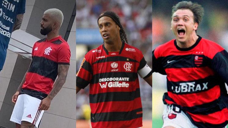 Vazado na internet nos últimos dias, o novo uniforme do Flamengo será lançado em 26 de fevereiro e será usado a partir do Campeonato Carioca. Mas o modelo mudou bastante em relação aos últimos? Relembre todas as camisas 1 do Rubro-Negro desde o início do século:
