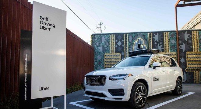 Veículo autônomo da Uber exposto em evento da empresa em setembro, na Califórnia Futuro