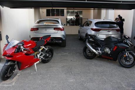 Veículos apreendidos pelas autoridades paraguaias