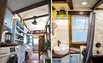 Os espaços internos são divididos em dois lofts, um banheiro completo, uma sala de estar e uma cozinhaVeja mais:Mulher descobre apartamento secreto em buraco atrás do espelho