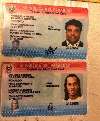 Veja fotos dos documentos de Ronaldinho e Assis apreendidos no Paraguai.