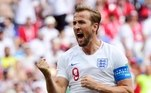 Harry Kane (6 gols) -O 'furacão' da Inglaterra foi decisivo no primeiro jogo de sua seleção, contra a Tunísia, marcando dois gols. Contra o Panamá, fez mais três gols na maior goleada da Inglaterra em Copas