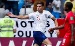Stones (2 gols) -Contra o Panamá, o zagueiro do Manchester City marcou dois gols de cabeça