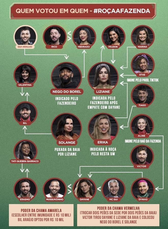Veja quem votou em quem na primeira formação de Roça
