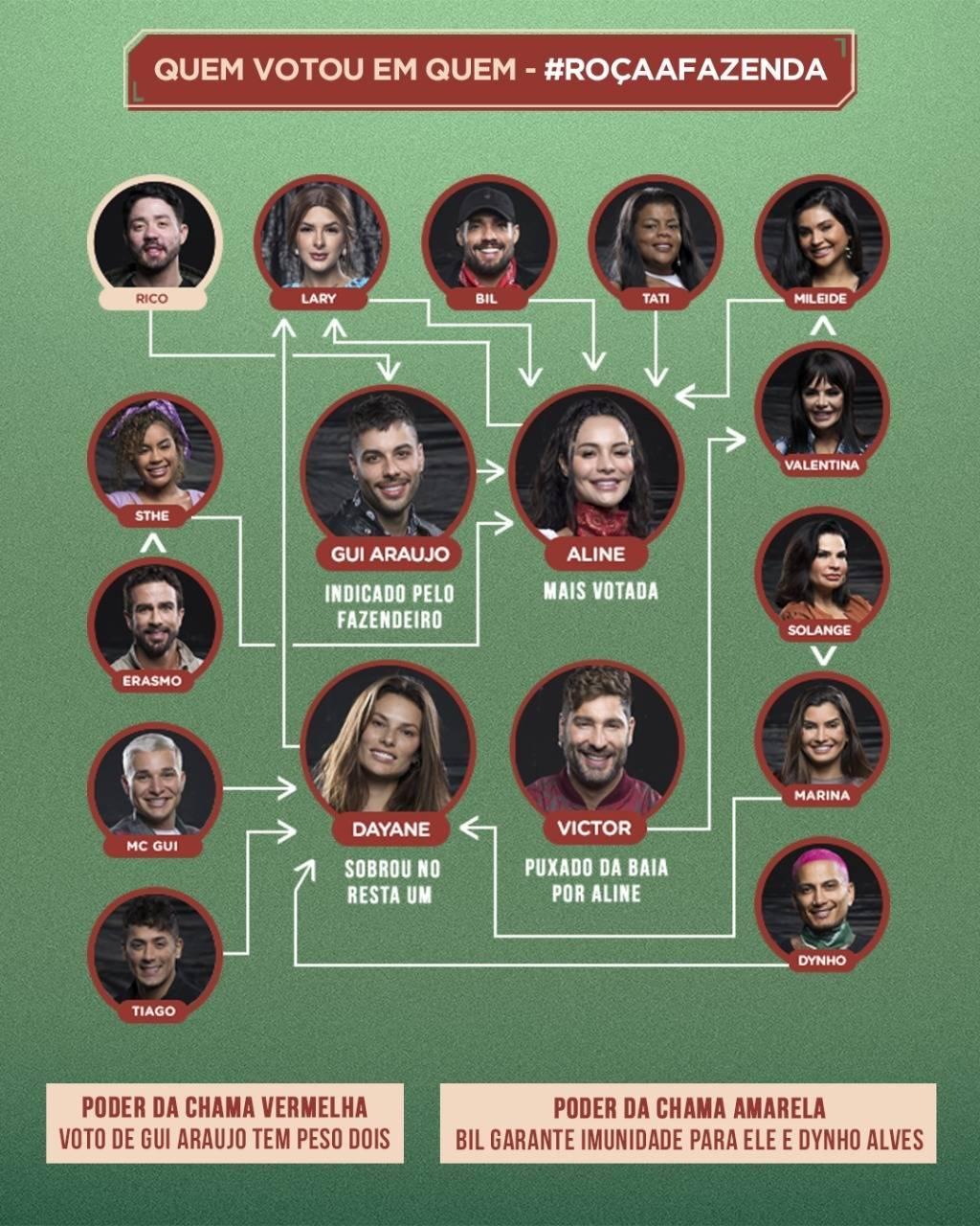 Veja quem votou em quem na quarta formação de Roça