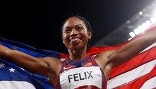 Velocista americana alcança recorde com 10ª medalha olímpica