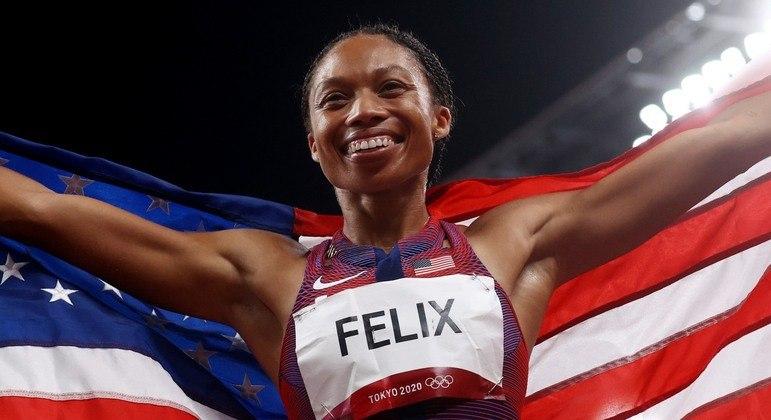 Allyson Felix faz história em Tóquio 2020 e conquista sua 10ª medalha olímpica