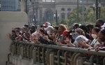 Movimentação na prefeitura de São Paulo, antes do velório do Prefeito Bruno Covas que faleceu na manha deste domingo (16), na cidade de São Paulo (SP)