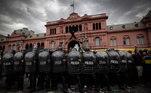 Governo argentino montou um forte esquema de segurança para conter os fanáticos torcedores da Argentina