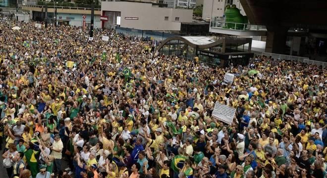 Ato tomou a Paulista entre a alameda Campinas e a rua Itapeva