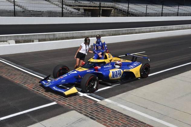 Vencedor em 2016, Alexander Rossi, #27, da Andretti, é o nono