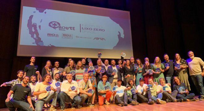 Vencedores do Prêmio Lixo Zero, edição 2019. Foto: Divulgação