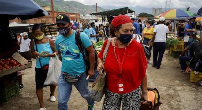 Caracas é epicentro da pandemia de coronavírus na Venezuela