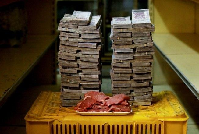 A tão sonhada carne no prato dos venezuelanos é mais cara, chegando a 9,500,000 o kg, o mesmo que 1,45 dólares (R$ 5,66)