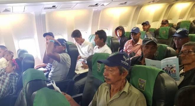 Venezuelanos chegaram em São Paulo nesta quinta-feira (5)