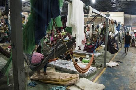 Índios venezuelanos Warao em abrigo de Boa Vista (RR)