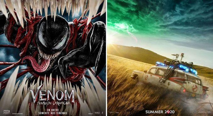 'Venom: Tempo de Carnificia' e 'Ghostbusters - Mais Além' chega aos cinemas ainda este ano